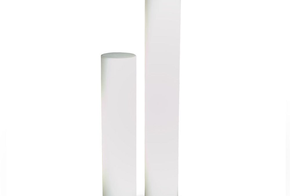 Colonne cylindrique lumineuse