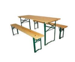 Ensemble grand banc et table rectangulaire