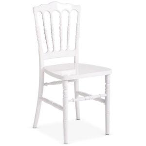 Chaise blanche Napoléon