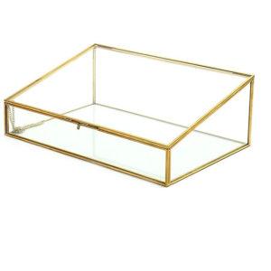 Terrarium verre et laiton cubique