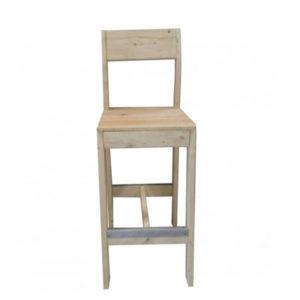 Chaise bar bois