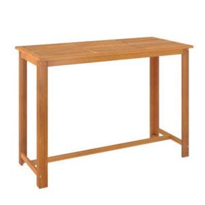 Table haute bois exotique