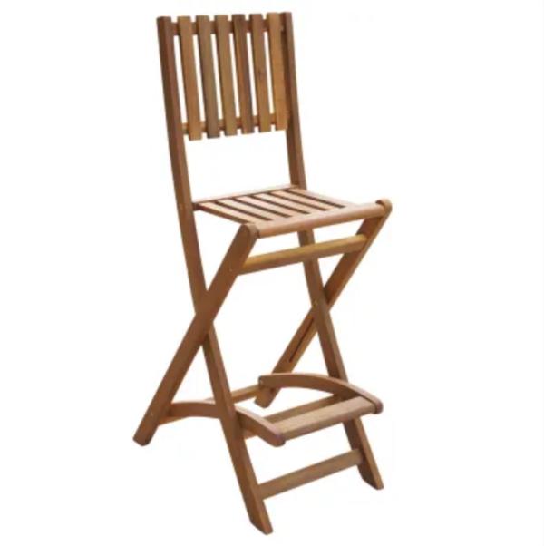 chaise bar bois exotique