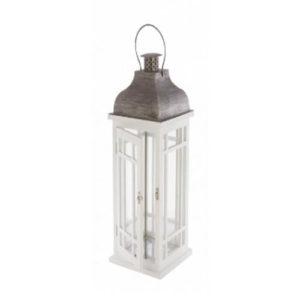 lanterne blanche en bois