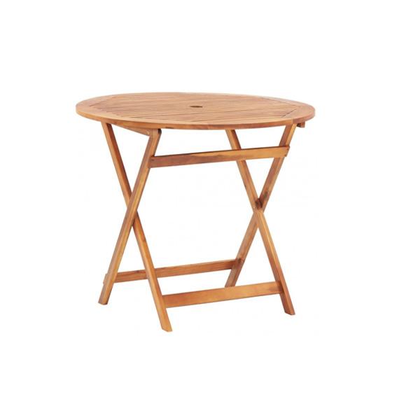 Table ronde bois exotique
