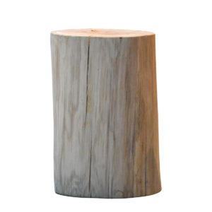 Tabouret rondin de bois