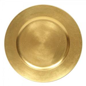 sous assiette doré