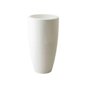 Vase blanc arrondi